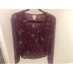Mossimo Floral Long Sleeve Top